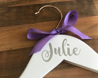 Wedding Name or Role Personalised Hangers