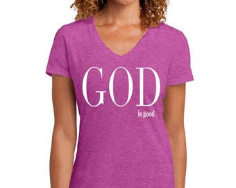 God is Good Pink T-shirt
