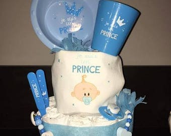 """Little prince"" diaper cake"