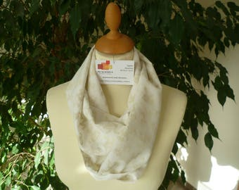 COTTON VOILE SCARF SNOOD