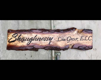 Hand carved business signs