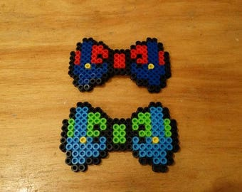 Mario and Luigi Hair Bows