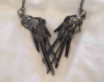 Edward Scissorhands Metal Necklace