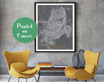 CALI Colombia CANVAS Large Art City Map Cali Colombia Art Print poster map art jt JackTravelMap