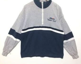 Ellesse Italy Halfzippup Sweatshirt Colorblock