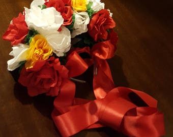 SOLD Day of the dead headpiece, Mexican costume floral crown, Spanish headpiece, contessa, dia de los muertos headpiece