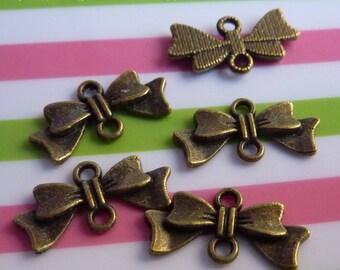 Set of 5 connector knot 10 * 20 mm metal bronze