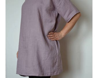 Plus size tunic, linen blouse, plus size linen tunic, plus size linen, loose linen shirt, plus size blouse, womens tunic, kimono blouse