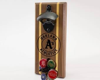 Oakland Athletics Magnetic Bottle Opener