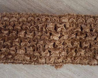 sale for 1.50 instead of 1.75.Bandeau fine soft light brown crochet for baby and girl under 6, tutus, dresses, hair accessory