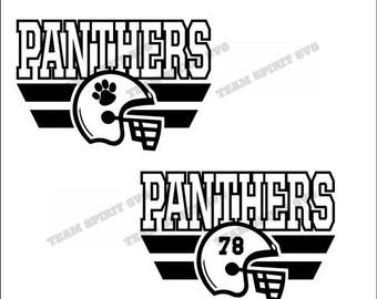 Panthers Football Helmet Download Files with Numbers - SVG, DXF, EPS, Silhouette Studio, Vinyl, Digital Cut Files -Use with Cricut and more!