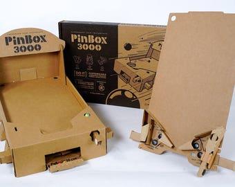 PinBox 3000 - Cardboard Tabletop Pinball Game Kit. DIY Artcade!