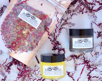 Brightening Gift Set - Gift For Her - Bath & Beauty - For Her - Facial Mask - Pamper Gift - Skin Care - Natural Skin Care - Mud Mask
