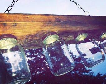Mason Jar Light Fixture Chandelier Lighting