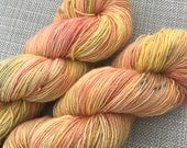 Time after time, inspired hand dyed yarn (100% super wash Merino) Singles / fingering weight