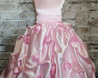 Gorgeous couture flower girl dress, silk flower girl dress, ball gown flower girl dress, girls special occasion dress, birthday dresses