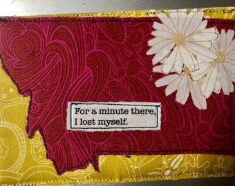 Montana Quilted Postcard - For a minute there I lost myself.