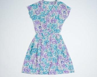 VINTAGE - Silk dress 50s