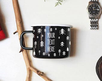 Enamel Mug Camping Mug Camping Gift Travel Gift Happy Camper Personalized Mug Christmas Mug Travel Mug Adventure Mug Camp Mugs Men's Gift
