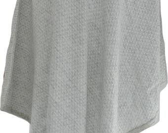 100% Cashmere Jacquard Winter Women Poncho Cardigan Warm Wrap Cape 70cm