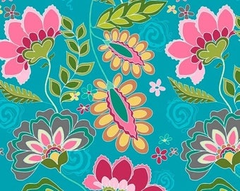 Sale Fantine Main in Blue from the Fantine Collection by Lila Tueller for Riley Blake Fabrics