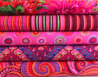 Bundle of Kaffe Fassett Collective Fabrics 5 fabrics