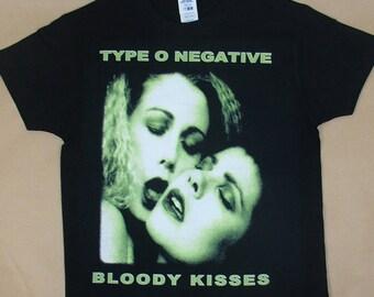 Type O Negative, Bloody Kisses, T-shirt 100% Cotton