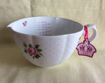 Vintage Royal Albert Baking Bliss measuring cup 1994 fancy kitchen tool unused with box