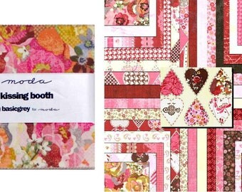 """Kissing Booth 5"""" CHARM PACK / Quilt Squares Moda Fabric"""