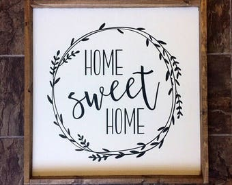 Home Sweet Home Wood Sign - Farmhouse Living - Home Decor - Joanna Gaines - Rustic Decor