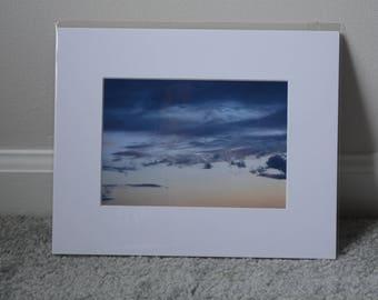 Sunset Print - White