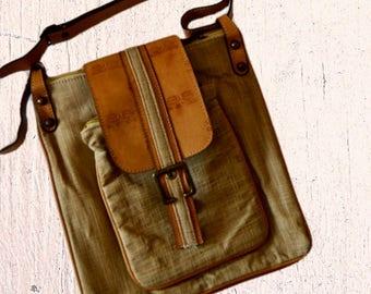 Cross body hobo bag canvas crossbody bag leather messenger bag men canvas hobo bag mens shoulder bag Vintage