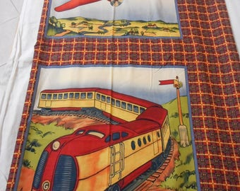 Planes Trains and Automobiles Fabric Panel - Colors Pop Out at You