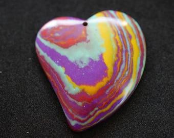 Multicolor heart shape PENDANT GEMSTONE
