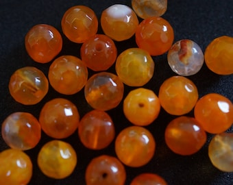 25 beads AGATE 8 mm H0216
