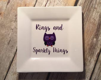 Owl, Owl Ring Dish, Owl Jewelry Tray, Rings & Sparkly Things, Ring Dish, Origami Owl