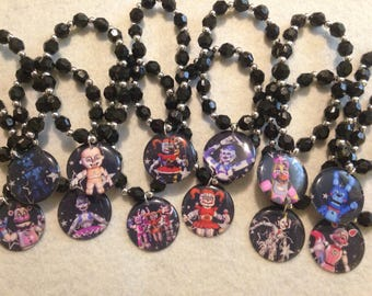 12x FNAF Sister Location  Theme Party Favor beaded bracelets
