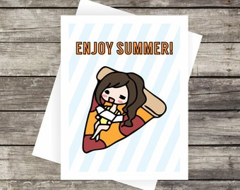 Enjoy Summer Card | Blank Card, Note Card, Greeting Card, Thank you Card