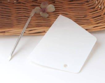 Glue spreading tools, White plastic glue spreading blade , stainless steel gluer P03