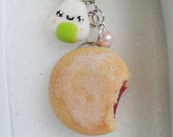 Realistic Jelly filled cookie cute keychain