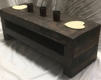 80 cm Tv stand rustic chunky lcd wooden