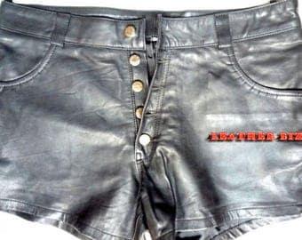Leather club wear Short