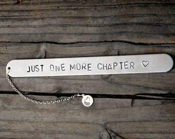marcador, marcador de capítulo más sola, metal favorito, marcador de libro, marcador, regalo de metal, estampado metal favorito, personalizado libro