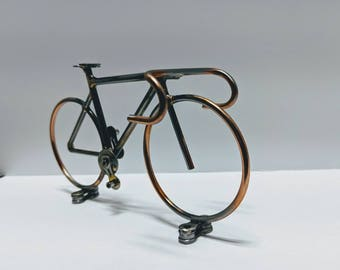 Road bike handmade welded metal art  bicycle sculpture