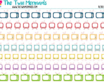 Retro Televisions Planner Stickers