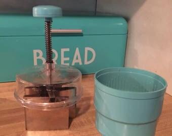 Vintage Turquoise Food chopper chop-o-matic aqua