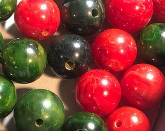 9mm 30 Bakelite Beads with holes