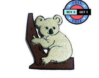 Koala Embroidered Iron On Patch Heat Seal Applique Sew On Patches
