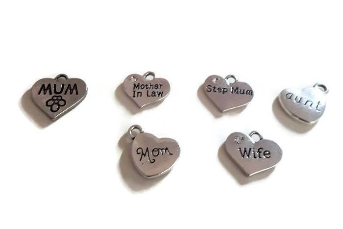 Love You To Pieces Jigsaw Piece Quote Charms Customisable
