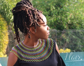 AfriChic Caribbean Couture necklace in Rainbow
